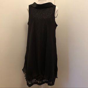 SLNY Black Cocktail Dress